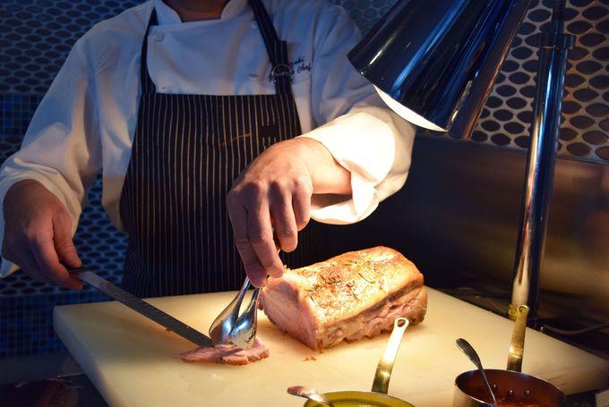 サンドイッチのボリュームがスゴイ!