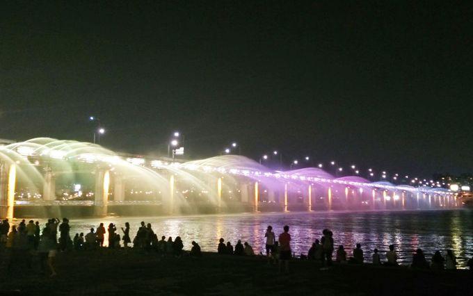 1日目夜:カンジャンケジャン&大橋噴水ライトアップ
