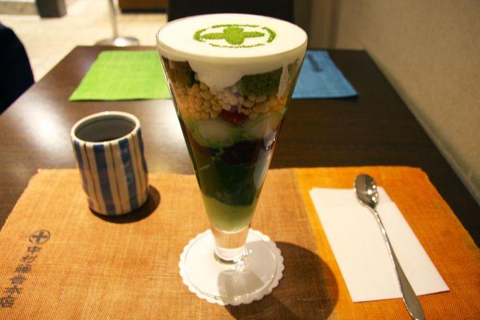 お茶の老舗中村藤吉が作る抹茶のうま味を凝縮したまるとパフェ
