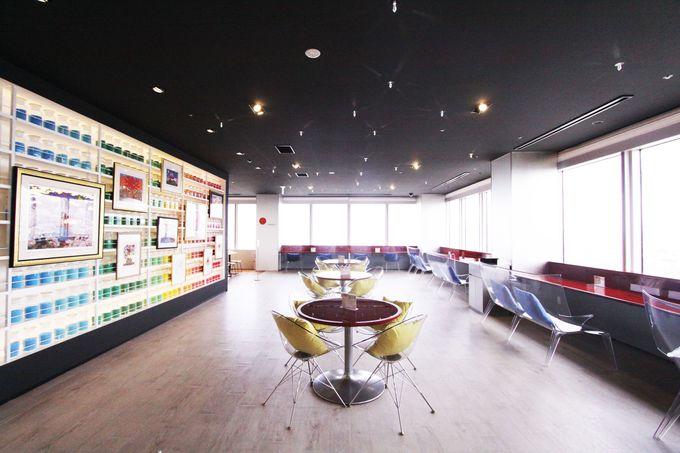 梅田スカイビル27階にある天空美術館と天空カフェ