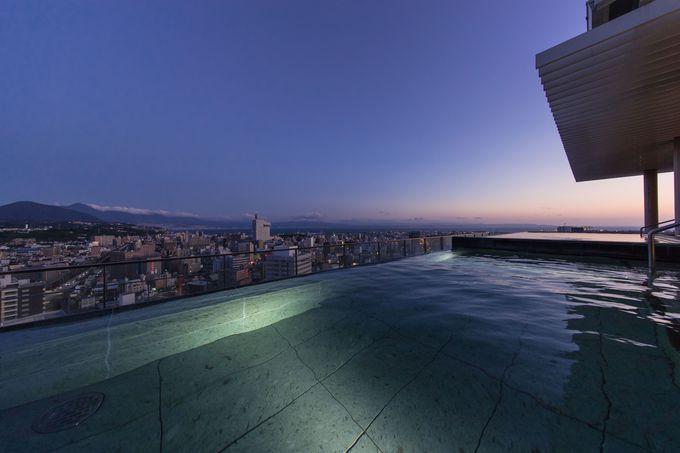 大分市内、別府湾一望の天空露天風呂 CITYSPAてんくう