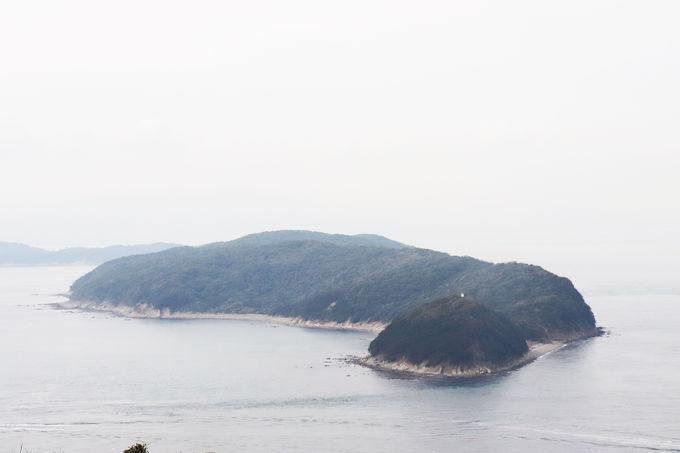 紀淡海峡に浮かぶ友ヶ島を一望