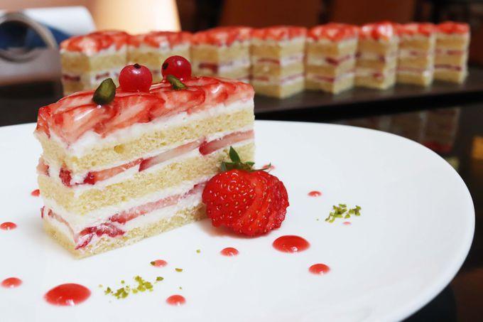 いちごのショートケーキ、フレッシュいちご食べ放題!