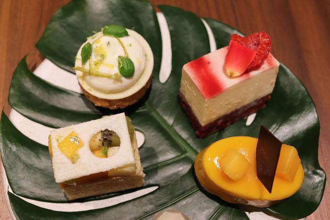 マンゴー、パイナップル、パッションフルーツを使ったスイーツ
