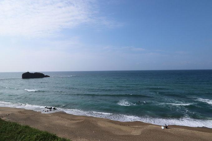 白砂浜が美しい白兎海岸散歩