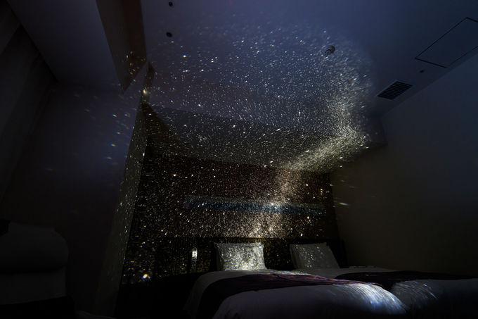 グラスサウンドスピーカー&プラネタリウムで眠りを演出