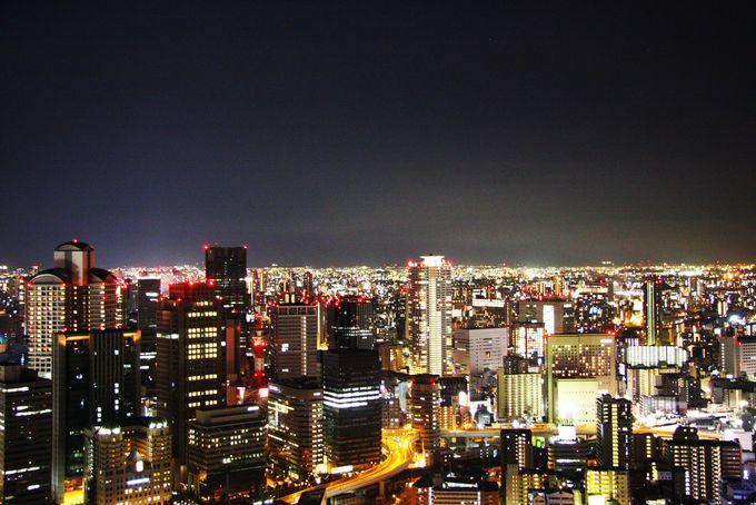 空中庭園展望台は夜景がおすすめ