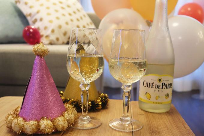キュートなドーナツ&レモンスパークリングワインで乾杯!