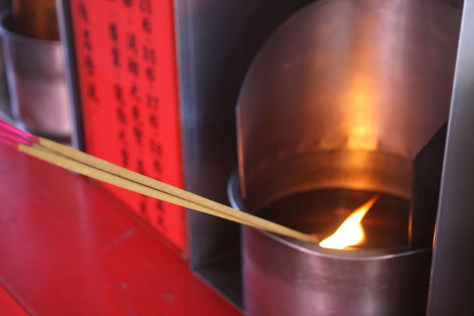 霞海城隍廟の参拝準備