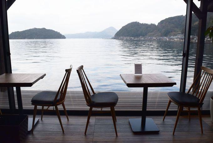 イネカフェで舟屋群をボ〜〜ッと眺める癒し時間