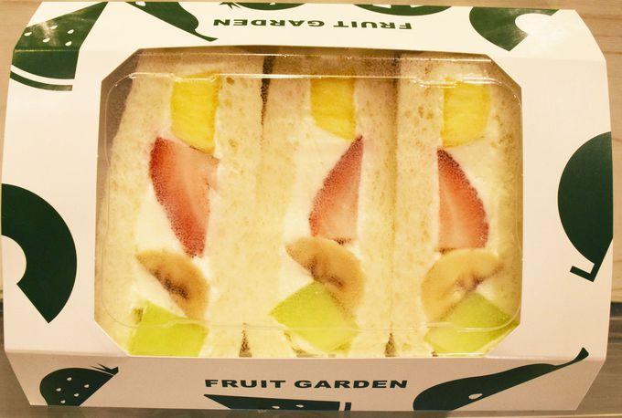 旬のおいしい果物を取りそろえる「山口果物」のフルーツサンド