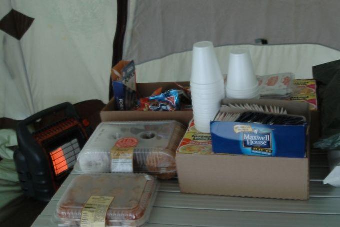 冷えたらテントで待機!