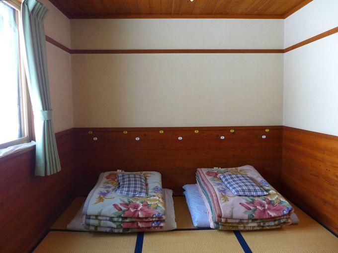 山小屋ながらも、快適なお部屋です