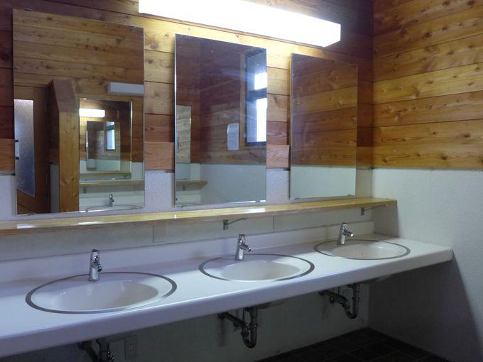 トイレもキレイで問題なし!
