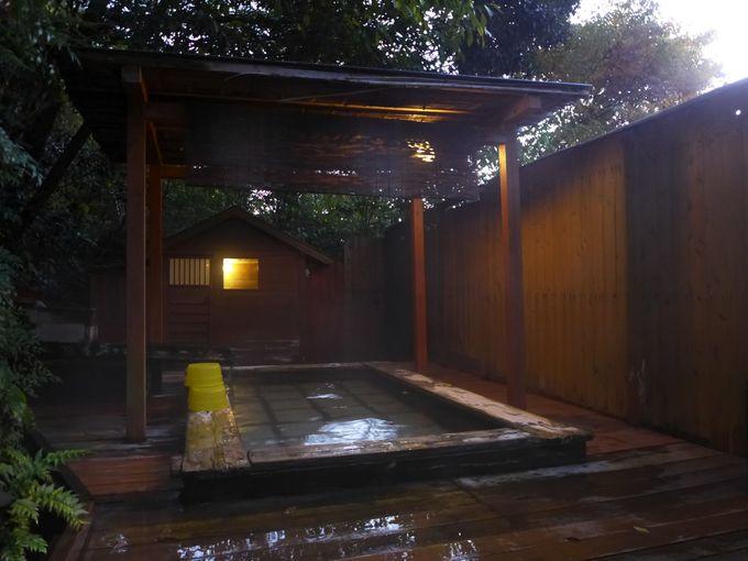 「成天閣」の多彩なお風呂は源泉掛け流し