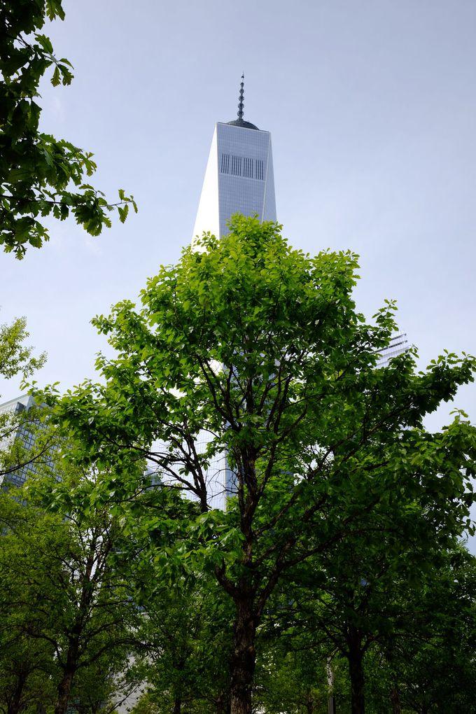 世界貿易センタービルの跡地は慰霊碑に