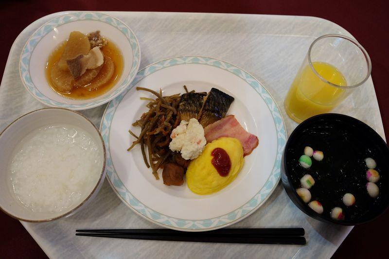 朝食は無料!