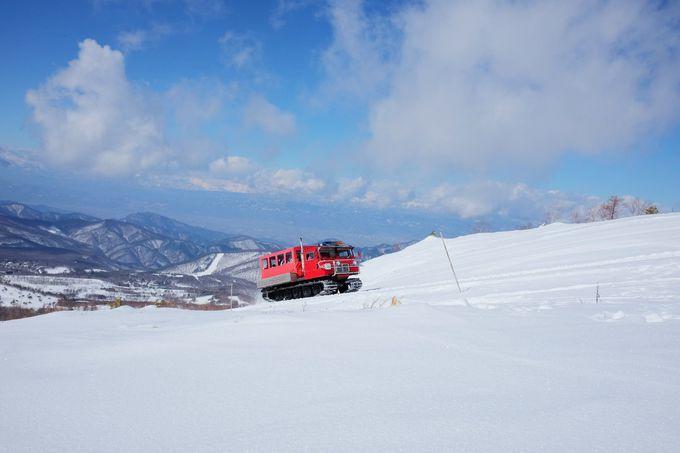 雪上車で山頂を目指そう!