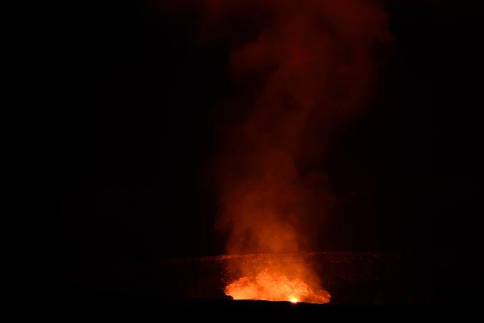 1日目:キラウエア火山へは、昼と夜の2回行く!