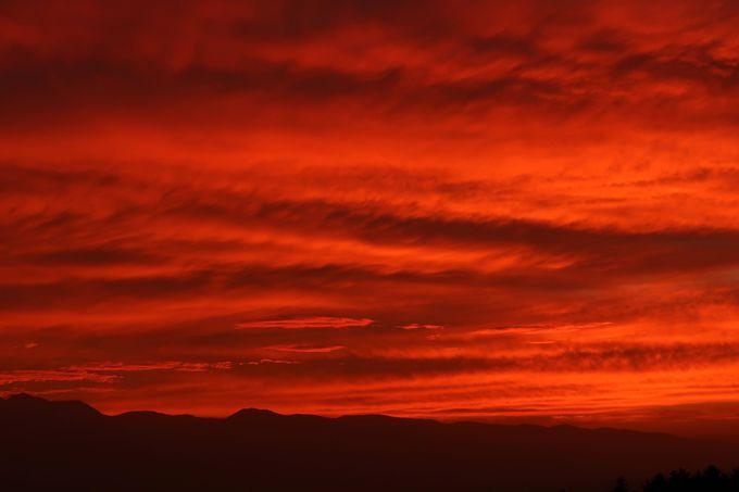 運がよければ、夕焼けがキレイに見えます!