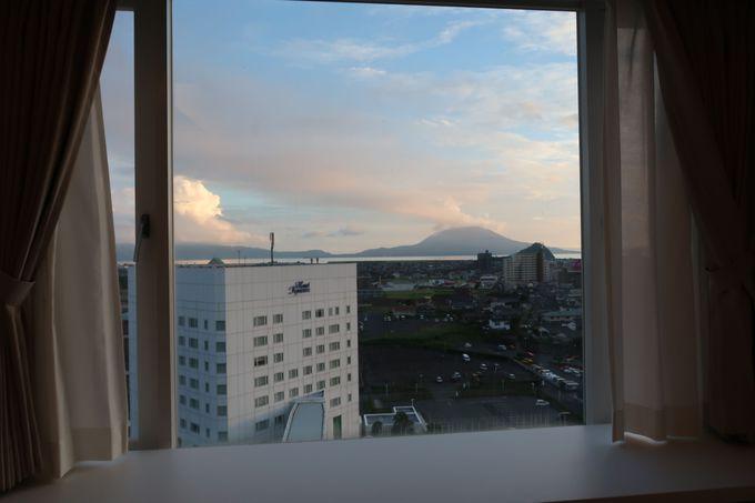 桜島や霧島連山が見える!