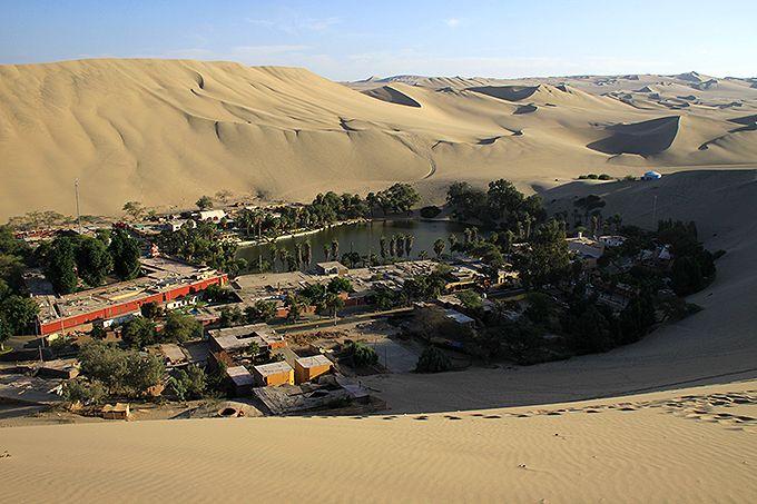 砂丘を上ってワカチナの全景を見よう