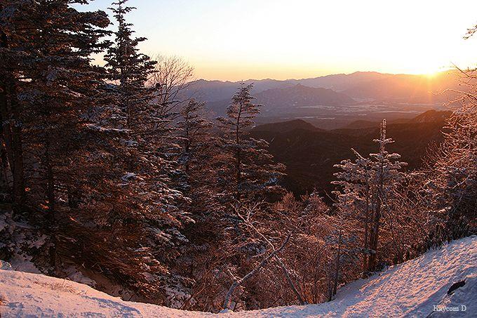 中山峠から初日の出