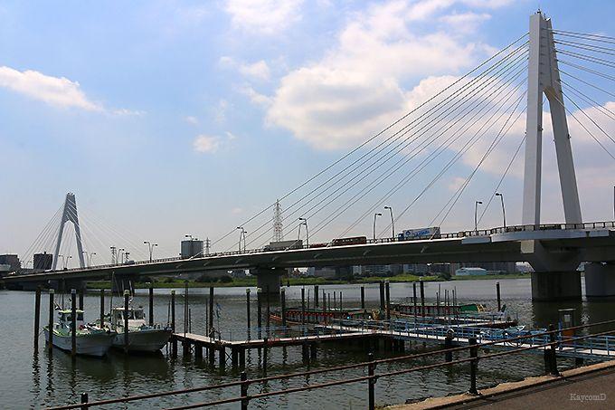 多摩川沿いを歩いて大師橋へ