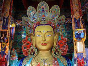 金の手形のタンカ!インド・ラダック「ティクセ・ゴンパ」でチベット仏教の宝物を見る