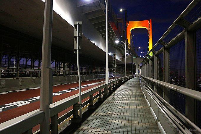 レインボーブリッジの遊歩道