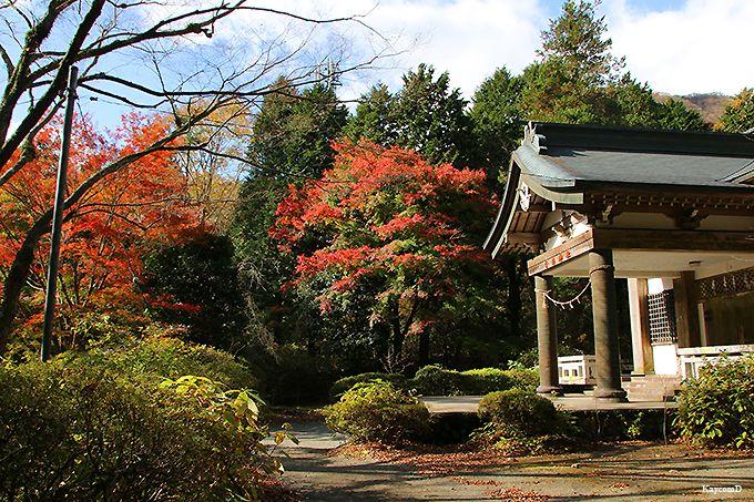 山頂から公時神社