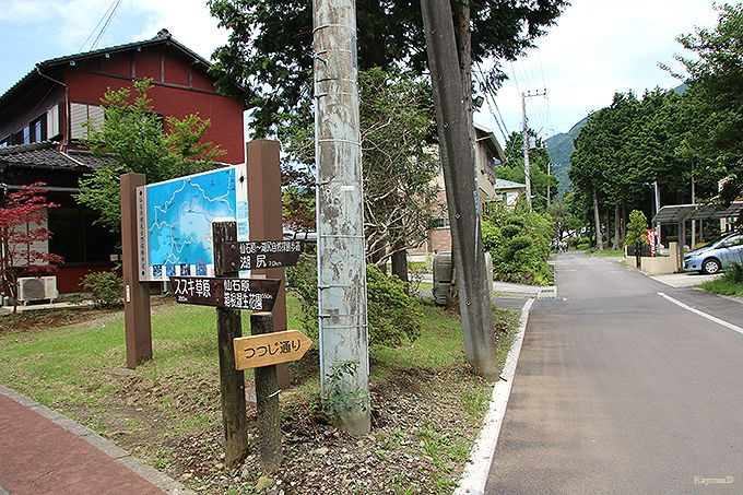 早川沿いの小路