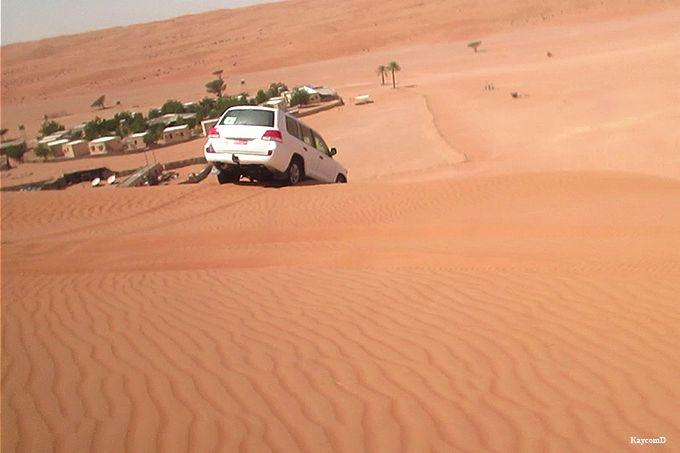 ベドウィンも暮らすワヒバ砂漠
