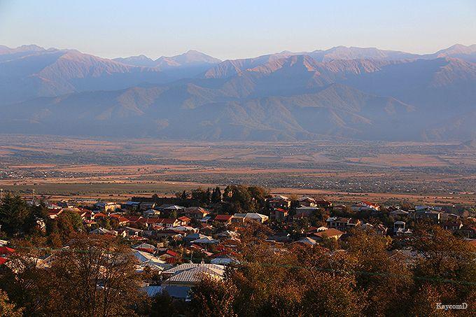 大コーカサス山脈が一望のロケーション