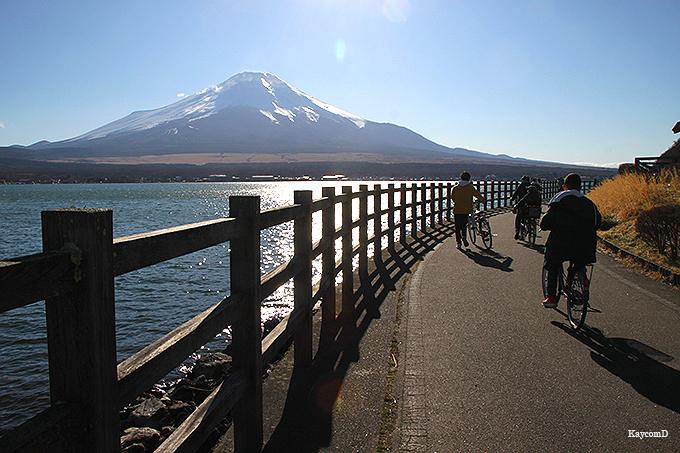 富士五湖の中で最も大きな湖「山中湖」