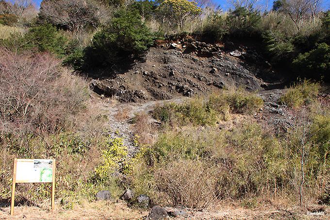 箱根外輪山の地質が間近に見られる「長尾峠の露頭」