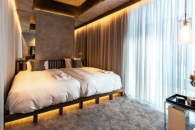 銀座の街や空を堪能できる客室
