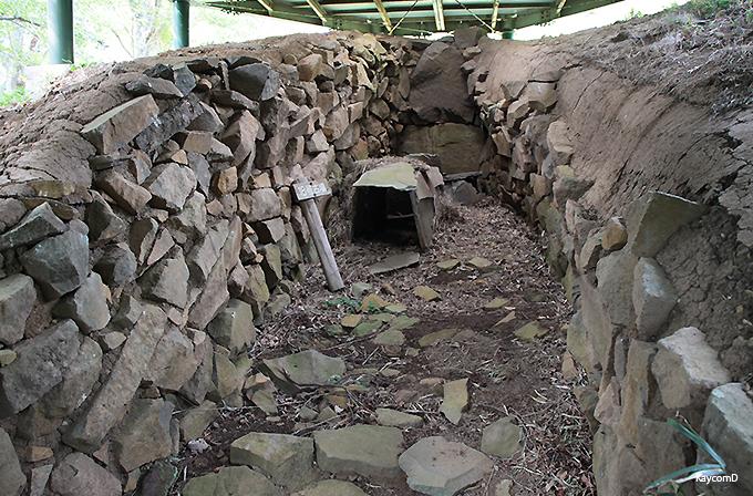 伊豆半島最大規模の石室がある「松江古墳」