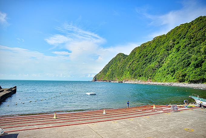 憧れの「井田ブルー」が見られる海