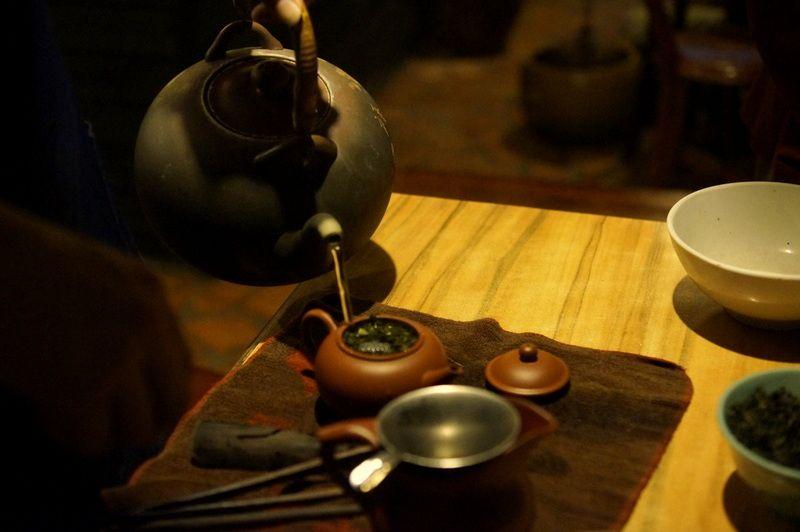 中国茶も入れたてを楽しめる