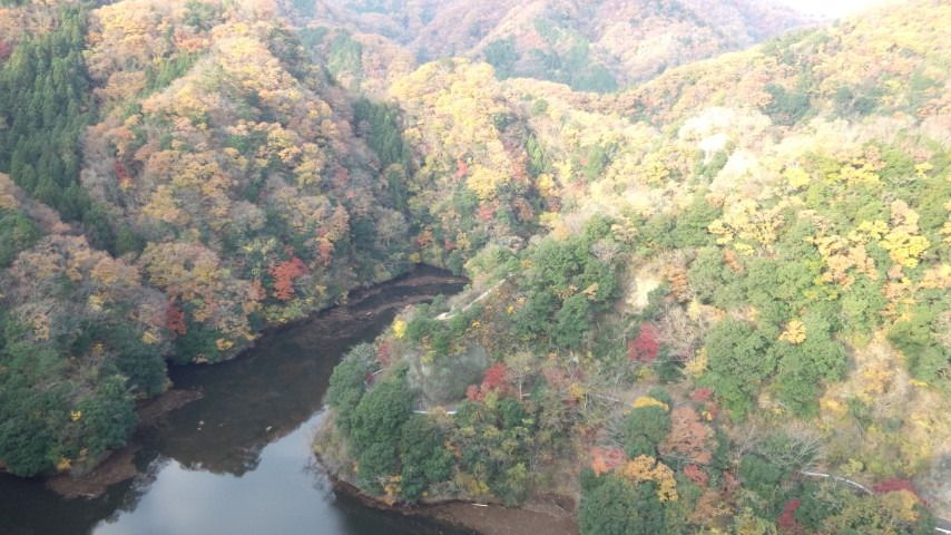 竜神峡大吊橋は秋の紅葉も見逃せない!