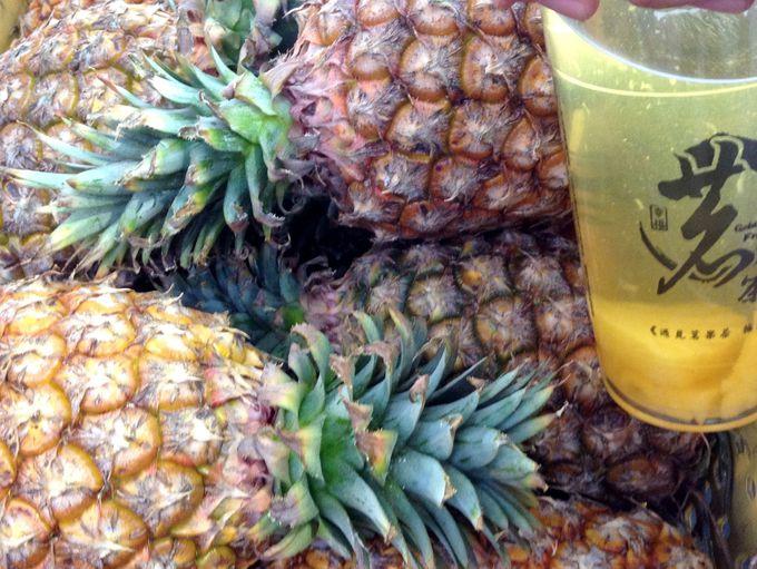 こだわりの台湾パイナップルが幸せ!「黄金水果茶」