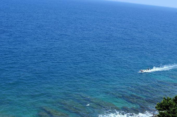 碧色の透明な海は必見!「望海亭」