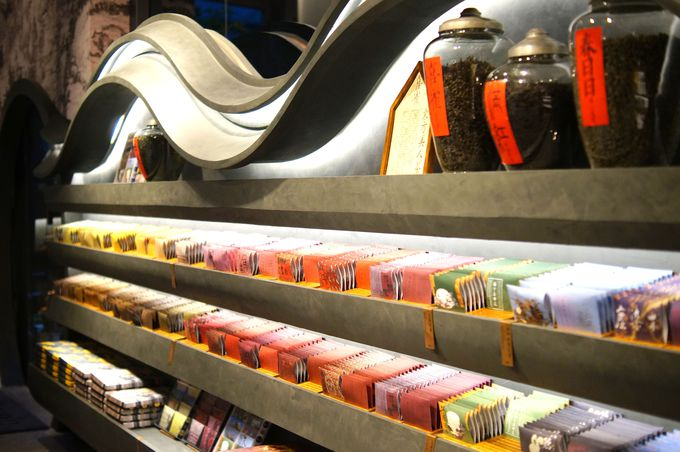 種類豊富なお茶類はティーバッグ中心でお土産に最適!