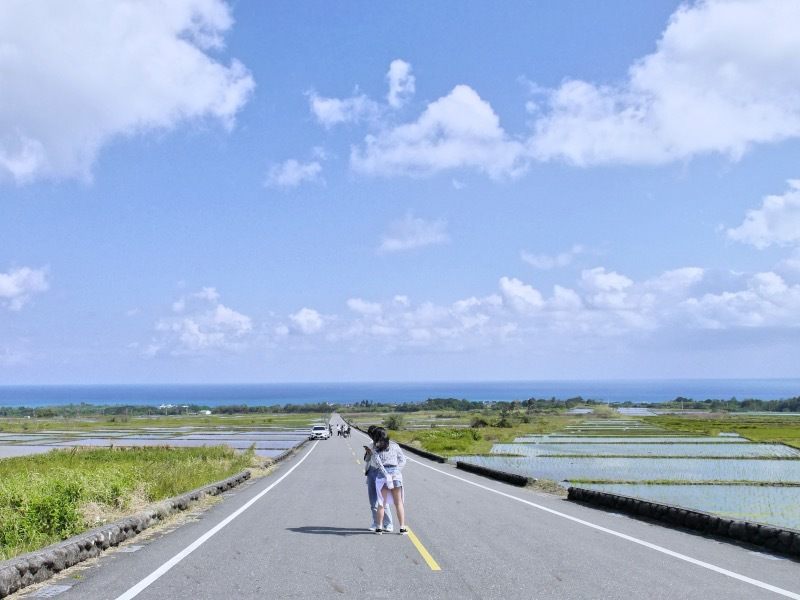 SNSでも人気!田んぼの向こうの海が絶景「金剛大道」