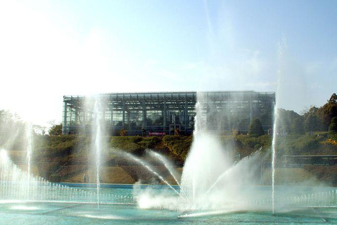 大温室「クリスタルパレス」と「大噴水ショー」も楽しめる!