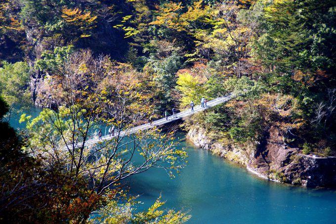 美しいブルーに浮かぶ「夢の吊橋」へ!