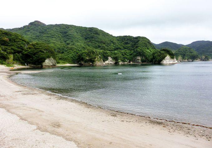 砂浜の「子浦海水浴場」もお薦め!