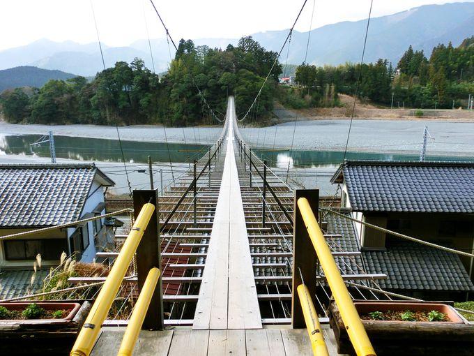 気軽に行ける鉄道撮影スポット「塩郷の吊橋」・「両国吊橋」
