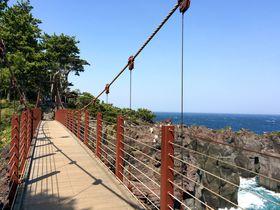 伊東・門脇吊橋&城ヶ崎ピクニカルコースへ!断崖絶壁の迫力絶景